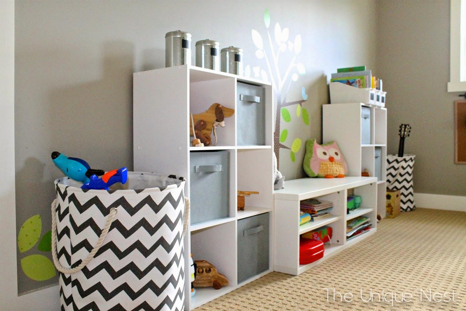 Playroom Makeover Part I (DIY Storage Cubes)