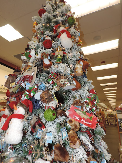 they had a lot of christmas trees decorated and on display too they had fun trees themed trees sports trees etc