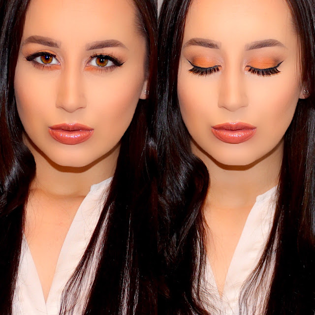 Smoky Matte Orange and Brown Makeup Tutorial