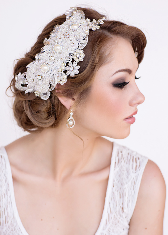 Ashley Bridal Headpiece - www.perlejewellerymakeup.com.au