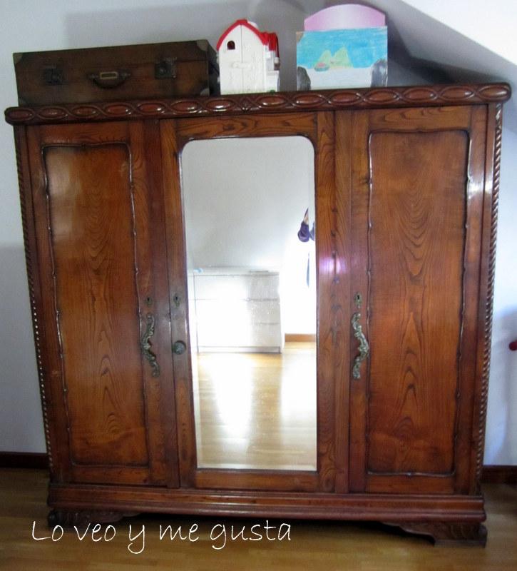 Lo veo y me gusta proyecto veraniego pintar armario viejo - Pintar mueble antiguo ...