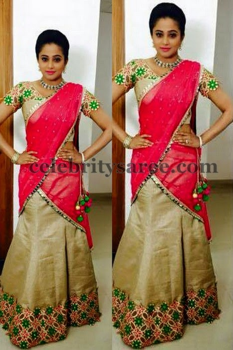 Priyamani Cut Work Half Saree