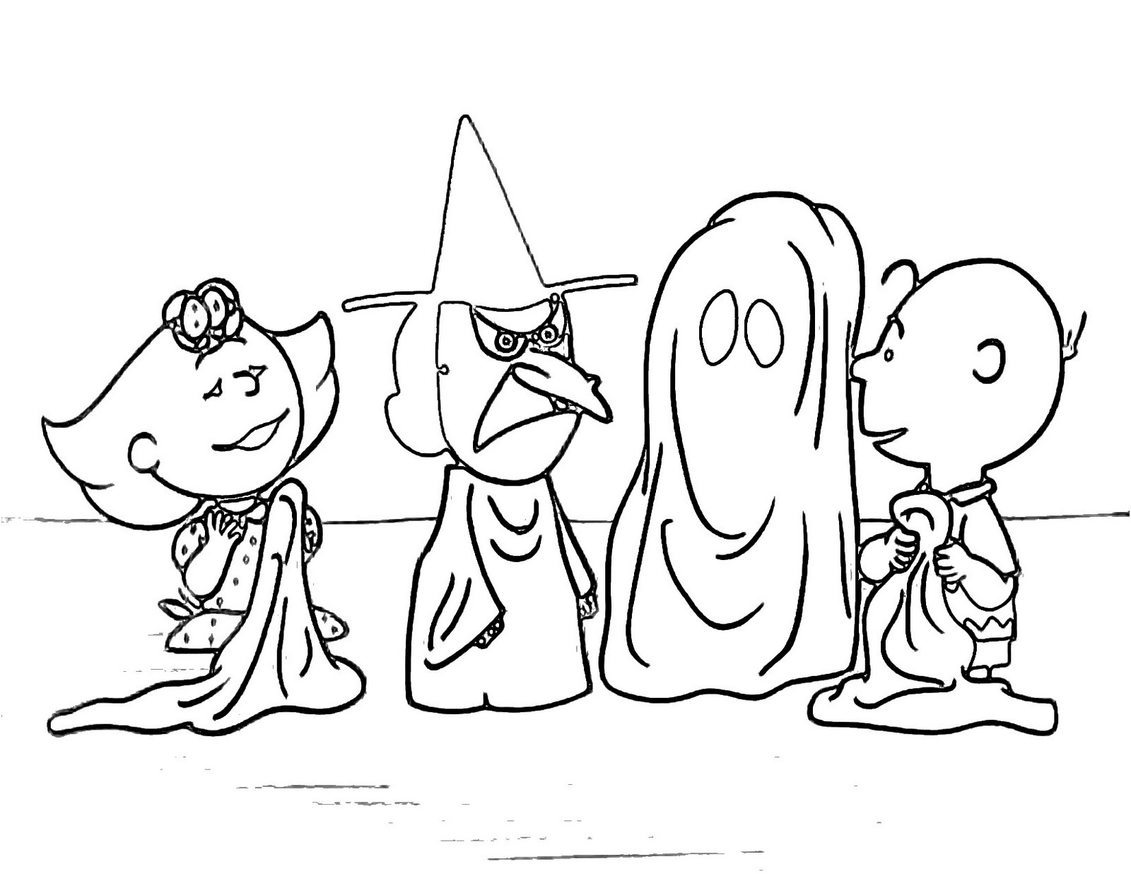 fans of peanuts charlie brown will love these halloween coloring sheets of charlie browns halloween a classic click on the coloring page you like best