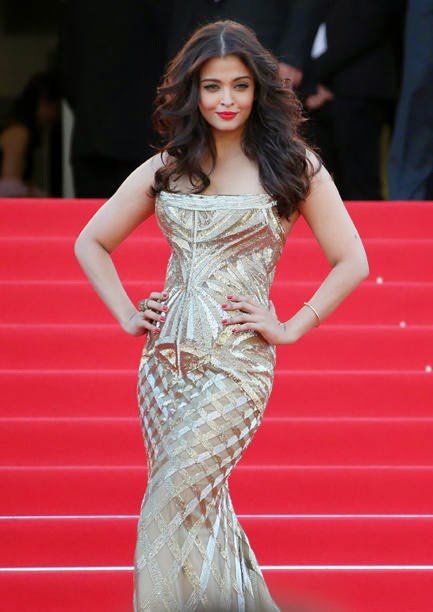 Aishwarya Rai, a veteran on the red carpet, pulled it on at Cannes.
