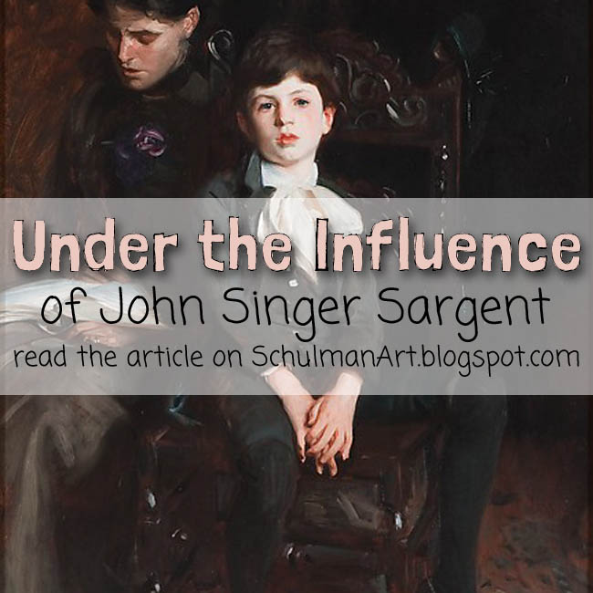 learn about the portraits of John Singer Sargent http://schulmanart.blogspot.com/2015/08/under-influence-john-singer-sargent.html @metmuseum #metsargent @schulmanaArt