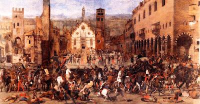 MANTOVA Domenico Morone - La cacciata dei Bonacolsi
