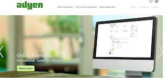 Captura de pantalla de la página web de Adyen: www.adyen.com