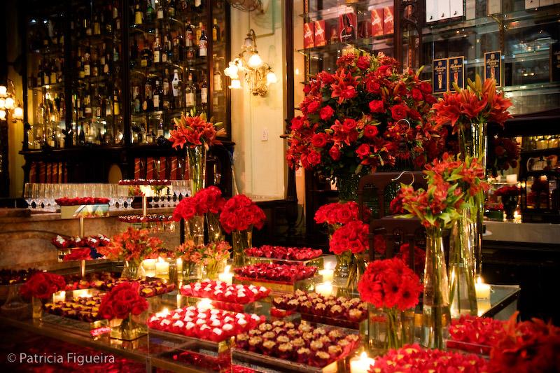 Morena Flor Glamour Casamento Decoração com Vermelho