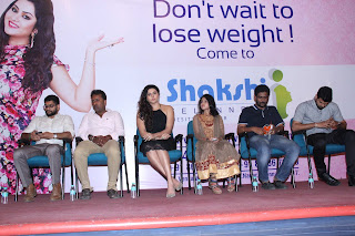 Namitha Latest Pictures in Short Dress at Shakshii Wellnness Press Meet  252830).jpg