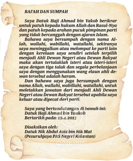 Pemimpin PAS Langgar Bai'ah