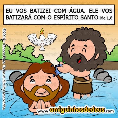 batismo de jesus desenho