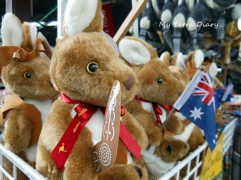 Simply aussie souvenirs at souvenirs in Queen Victoria Market, Melbourne