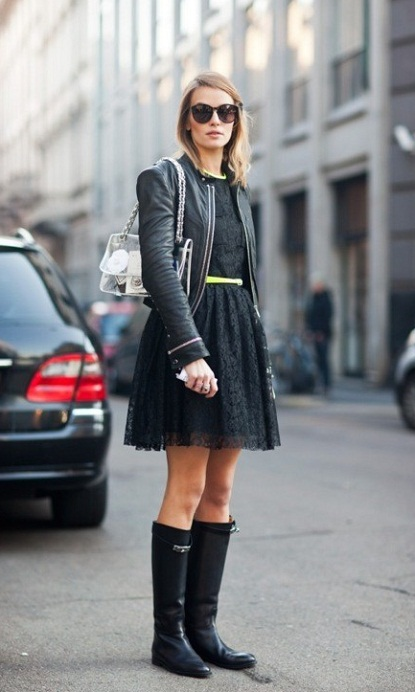 How to wear lace dress in winter