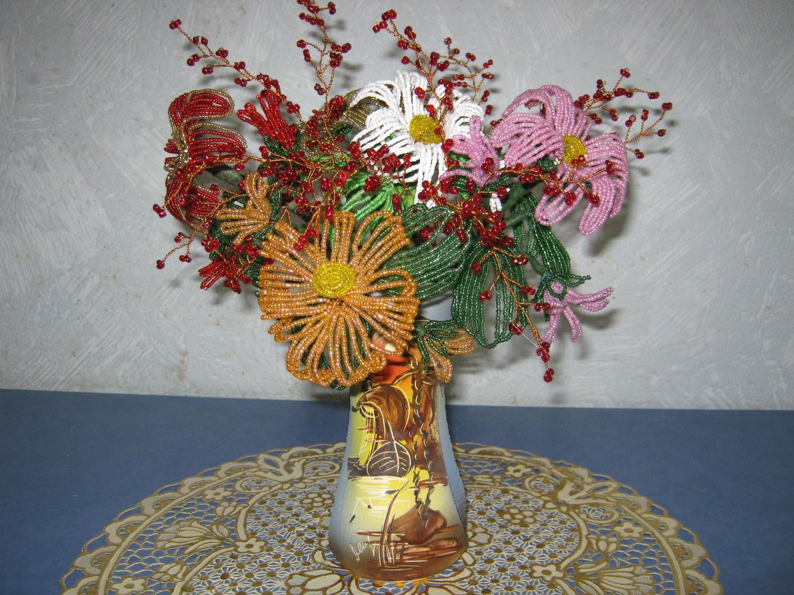 Цветы из бисера мастер классы, схемы и пошаговые фото и 360