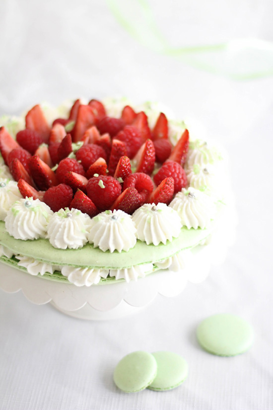Birthday Cake Flavored Macarons