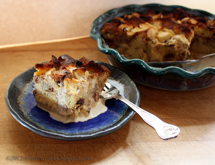 Christine Cooks: Apple-Cinnamon Bread Pudding with Fresh Apples