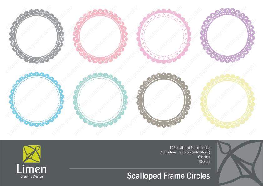 Scallop Frame Png Scalloped Frames Clip Art
