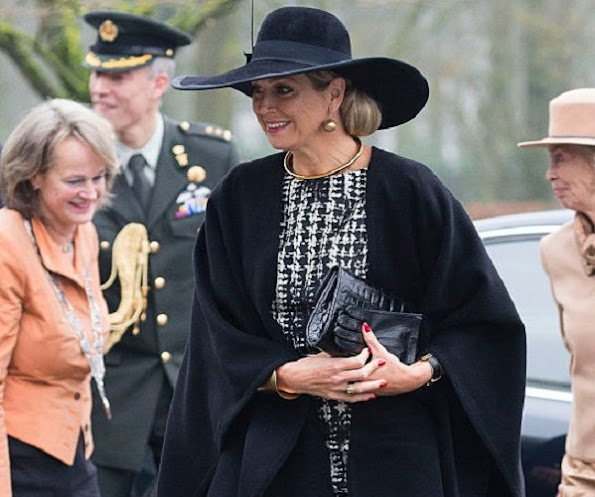 Queen Maxima of The Netherlands arrives to attend the award ceremony for the Tuinbouw Ondernemersprijs 2016 (Agriculture Entrepreneur Prize) at the Keukenhof flower show
