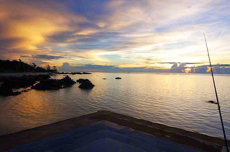 sunrise,Izena Island,Okinawa,fishing,ocean
