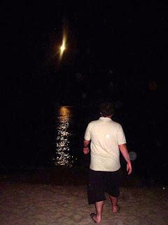 Bañándome con el reflejo de la luna