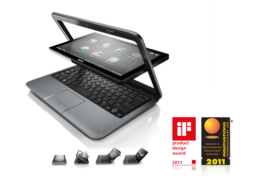 The Inspiron Duo - converts between a laptop and a tablet.