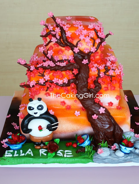 beautiful girly kungfu panda cake