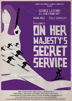 James Bond Poster On her Majestys Secret Service okokno