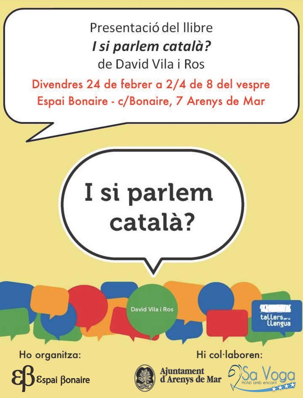 Presentació 'I si parlem català?' a Arenys de Mar