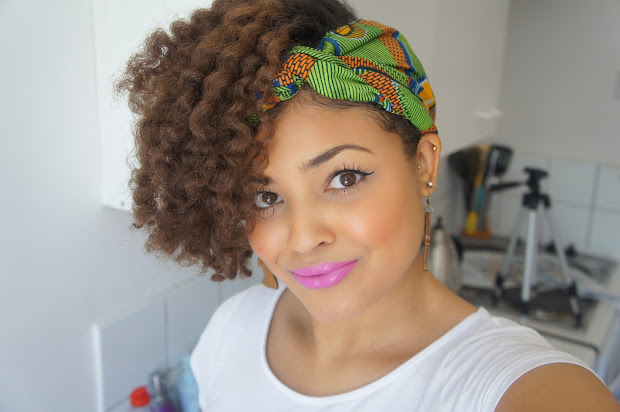 yolanda natural afro hair tutorial