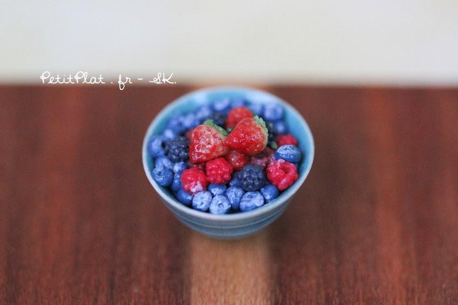 Miniature Berries - Strawberries, Raspberries, Blackberries, Blueberries - Miniature Food Art by Stephanie Kilgast, PetitPlat