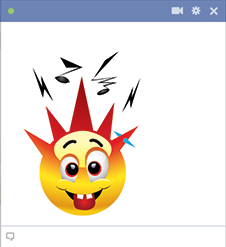 Punker Facebook Emoticon