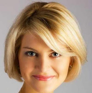 model gaya potongan rambut pendek wanita wajah bulat quick bob