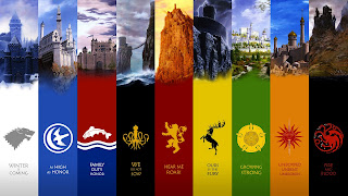 Game of Thrones all Kingdoms Flags Emblems HD Wallpaper