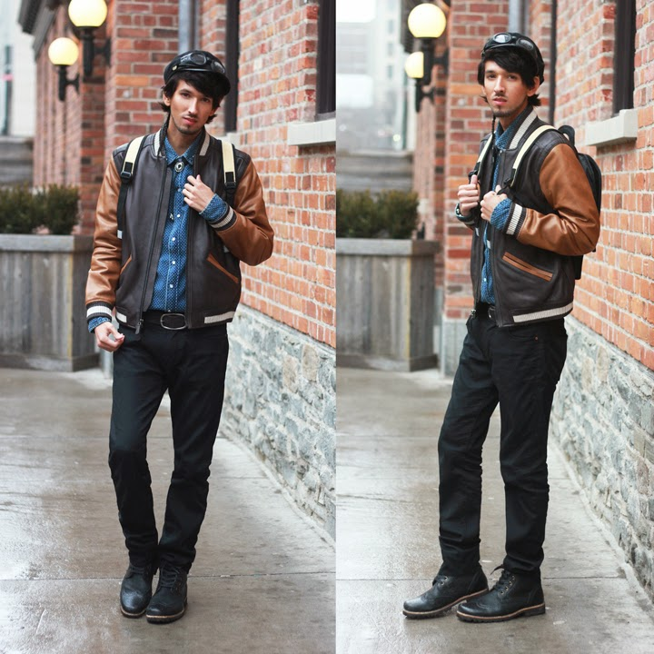 bobby raffin coach leather baseball jacket