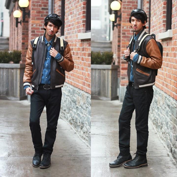 bobby raffin coach leather baseball jacket