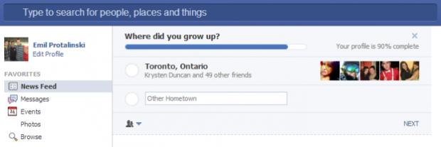 facebook profilo informazioni news