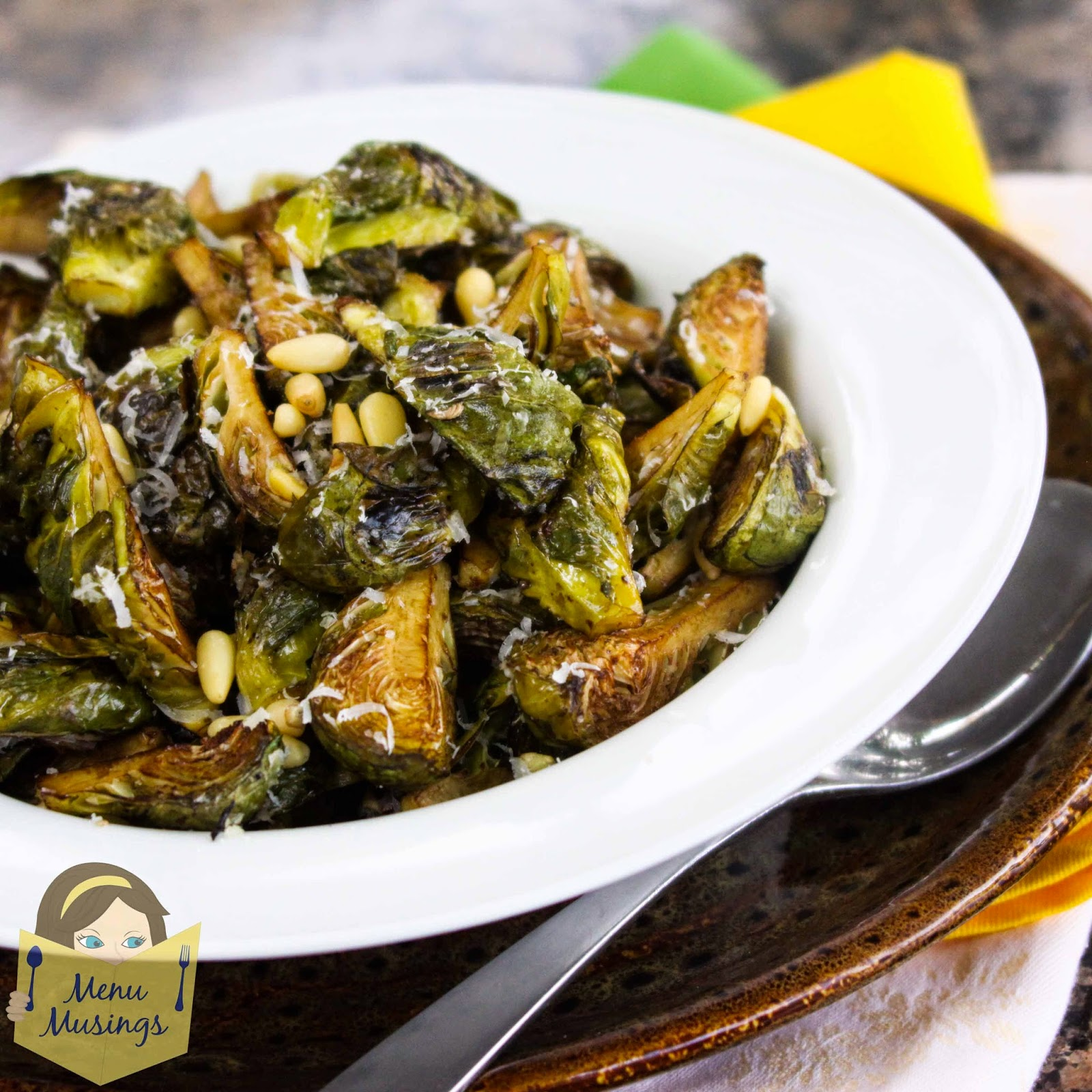 Balsamic Roasted Brussels Sprouts With Toasted Pine Nuts ...