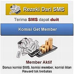 rezeki uang mudah dari iklan sms