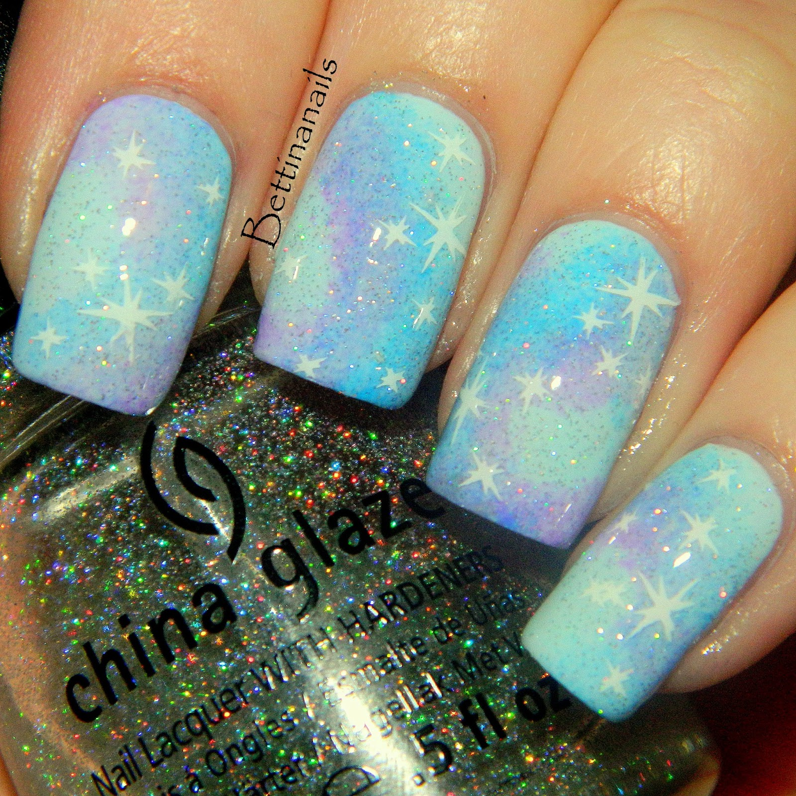 Pastel Blue And Purple Galaxy Nails I Did These A Week Ago