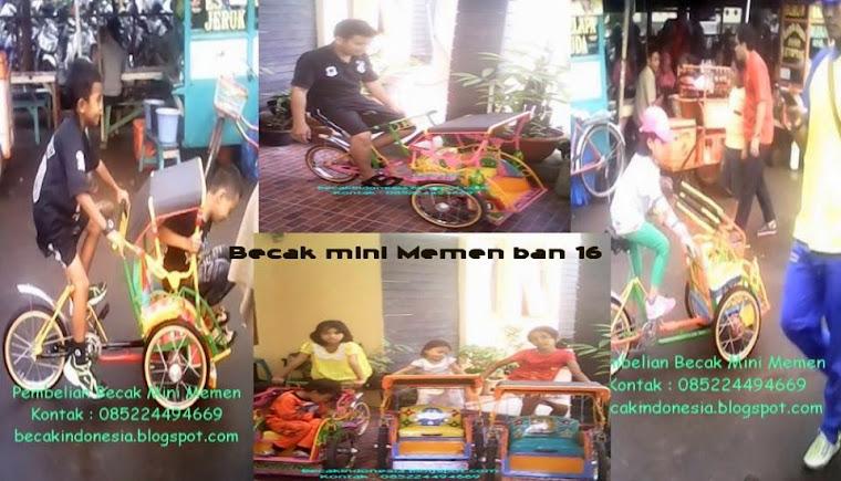 Becak Mini Mainan Anak