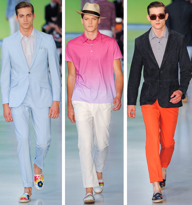 richard james spring 2014 colorful suits