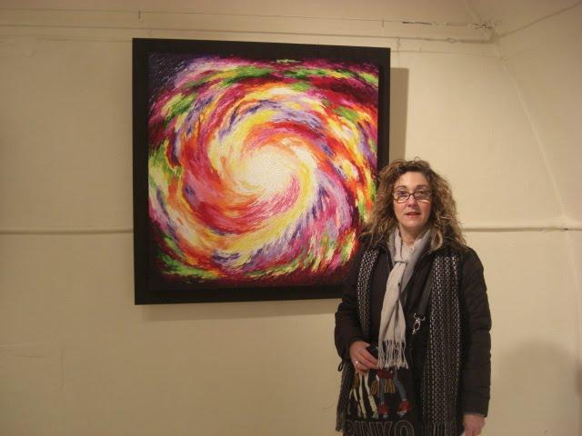 Lucia Sandroni with the work 'Spirituali Espansioni'