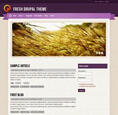 Fresh Theme - Free Drupal Theme