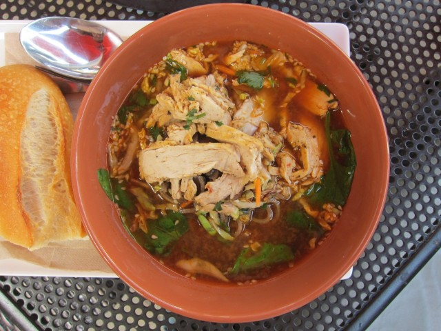 Soba Noodle Broth Bowl with Chicken features sliced chicken, soba ...
