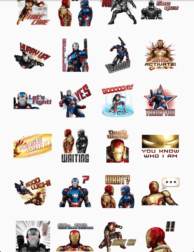 Iron Man 3  line stickers