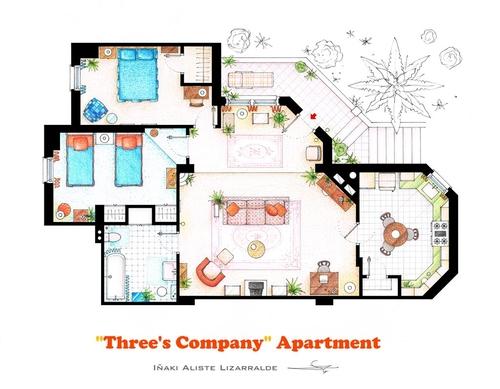 12-Three-S-Company-Jack-Tripper-Janet-Wood-And-Chrissy-Snow-Apartment-Floor-Plan-Inaki-Aliste-Lizarralde