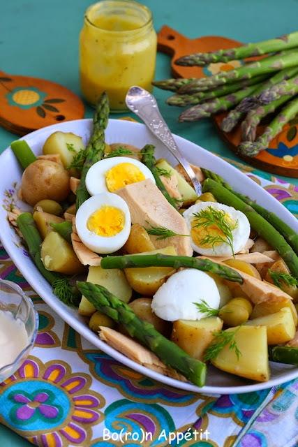 Sałatka z młodych ziemniaków i szparagów