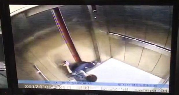 Της έκοψε το πόδι το ασανσέρ! (ΒΙΝΤΕΟ από ΚΑΜΕΡΑ ΑΣΦΑΛΕΙΑΣ)