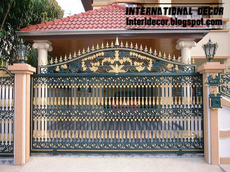 Modern Sliding Iron Gate Designs UK Gates