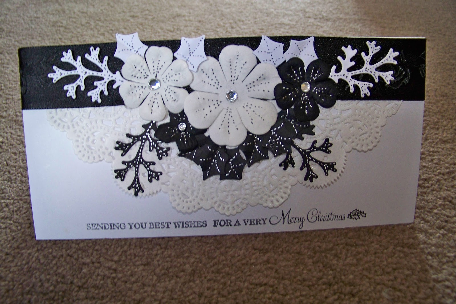 Black And White Christmas Card Templates Black and white christmas ...